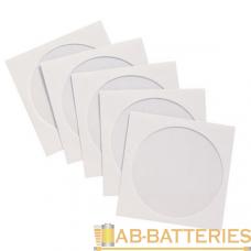 Конверт для дисков Без бренда с окном 100шт. белый (100/5000)