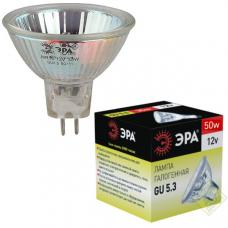 Лампа галогенная ЭРА MR16 GU5.3 50W 3000К 12V софит 50мм прозрачная (1/10/200)