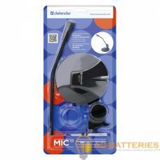 Микрофон Defender MIC-117 конденсаторный 54 дБ 1.8м черный (1/40)