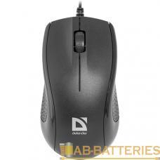 Мышь проводная Defender MB-160 Optimum классическая USB черный (1/40)