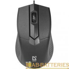 Мышь проводная Defender MB-270 Optimum классическая USB черный (1/40)