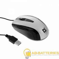 Мышь проводная Defender MM-140 Optimum классическая USB серый (1/20/100)