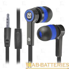 Наушники внутриканальные Defender 420 Pulse с микрофоном черный синий (1/80)