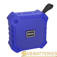 Портативная колонка HOCO BS34 bluetooth 5.0 microSD с микрофоном синий (1/40)