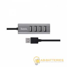 USB-Хаб HOCO HB1 4USB USB (m) серый (1/12/120)