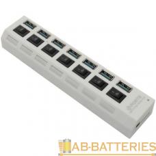 USB-Хаб Smartbuy 7307 7USB USB3.0 с выключателем белый