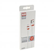 USB кабель Earldom EC-082I Apple 8 pin 1 метр (белый)