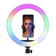 Цветная кольцевая светодиодная лампа с держателем RGB LED MJ-26 (26 см) Soft Ring Light (без штатива) (white)