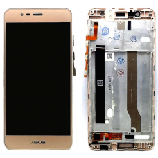 Дисплей с тачскрином Asus ZenFone 3 Max ZC520TL (X008D) в рамке золотой оригинал