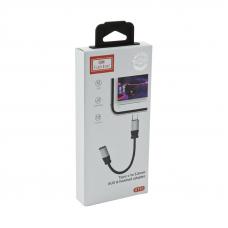 Адаптер Earldom ET-OT51 USB Type-C to 3,5 mm AUX & Headset Adapter (черный)