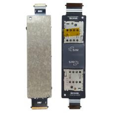 Шлейф коннектор Sim + карты памяти Asus Zenfone 5 A500CG (T00F)