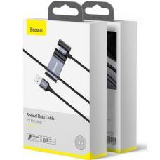 Кабель Baseus Special Data Cable for Backseat USB to Lightning + 2x USB HUB (CALHZ-01) 1.5m (black)