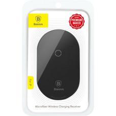 Модуль приема беспроводной зарядки Baseus Microfiber QI Wireless Charging Receiver Lightning (WXTE-A01) (black)