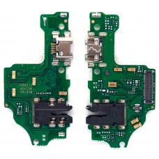Шлейф зарядки Huawei Honor 8X 2018 (JSN-L21) разъем гарнитуры/ микрофон