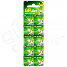 Батарейка GP G3/LR736/LR41/392A/192 Alkaline 1.5V отрывные (10 шт. в блистере)
