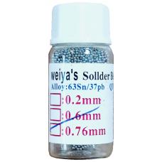 Шарики BGA для реболинга микросхем 0.76 mm Sn63Pb37
