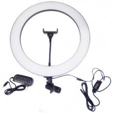 Кольцевая светодиодная лампа с держателем (35 см) (white)