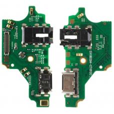 Шлейф зарядки Huawei Nova 3 (PAR-LX1) разъем гарнитуры/ микрофон