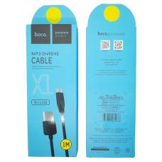 Кабель USB - micro USB HOCO X1 (1м.) черный