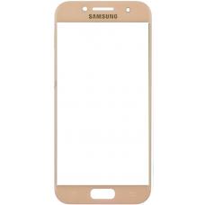 Защитное стекло полное Samsung Galaxy A3 (2017) SM-A320 золотое