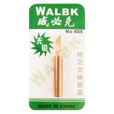 Жало паяльника медное WALBK №665 900M-T-K 0.5 mm (скошенное)