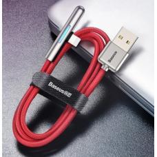 Кабель Baseus Iridescent Lamp USB - Type-C 40W (CAT7C-B01, CAT7C-B09) 1м, HW Flash Charge Mobile Game (red)