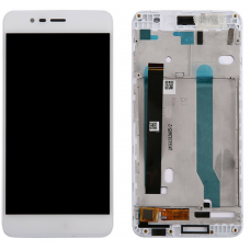 Дисплей с тачскрином Asus ZenFone 3 Max ZC520TL (X008D) в рамке белый оригинал
