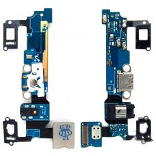 Шлейф зарядки Samsung Galaxy A7 SM-A700F /разъем гарнитуры/микрофон