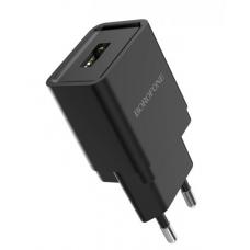 Зарядное устройство BOROFONE BA19A (5v / 1A.) черный