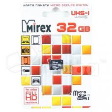Карта памяти MicroSDHC 32GB Class 10 Mirex UHS-I без адаптера