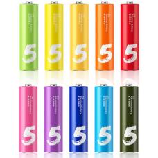 Батарейки алкалиновые Xiaomi (Mi) Rainbow ZI5 типа AA (уп.10 шт.) (multicolor)