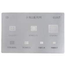 Трафарет BGA G1017 MBG965H / MDM9215M / APQ8064 / WTR1605L / WCD9310 / PM8018 / PM8917