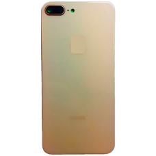 Задняя крышка для iPhone 8 Plus со стеклом камеры золотая