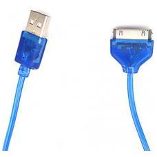 Кабель светящийся 30pin - USB 1м (white)