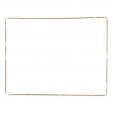 Рамка дисплея и тачскрина для iPad 4 (белая)